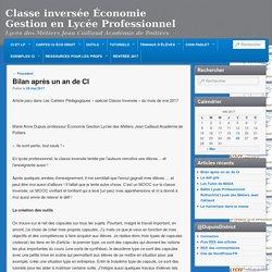 Classe inversée Économie Gestion en Lycée Professionnel