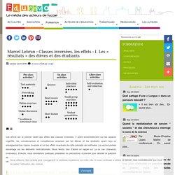 Marcel Lebrun : Classes inversées, les effets : I. Les « résultats » des élèves et des étudiants