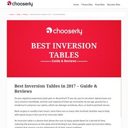 Best Inversion Tables in 2017 – Guide & Reviews