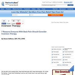 Inversion Therapy for Back Pain, Neck Pain and Sciatica | LoseTheBackPain.Com