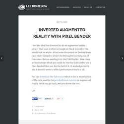 The Flash Blog » Inverted augmented reality with Pixel Bender