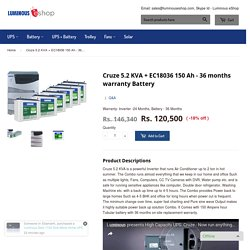 Inverter for running Air Conditioners - 5.2 KVA with Tubular battery – Luminous eShop