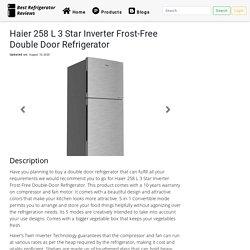Haier 258 L 3 Star Inverter Frost-Free Double Door Refrigerator