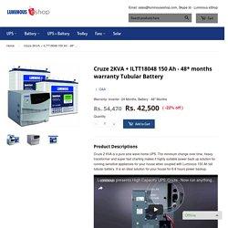 Buy Online Inverter 2KVA and Battery luminouseshop.com – Luminous eShop