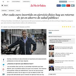 Entrevista sobre salud y AF (La Voz de Galicia)