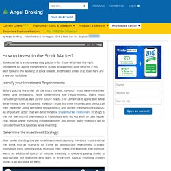 Here's How to Invest in Shares: Detailed Guide at Angel Broking