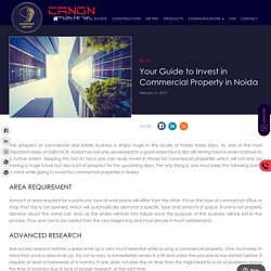 Your Guide to Invest in Commercial Property in Noida