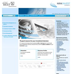 NRW.INVEST - Your experts on North Rhine-Westphalia