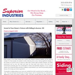 Invest in Your Home's Future with Siding in Aurora, CO