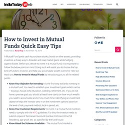 How to Invest in Mutual Funds Quick Easy Tips for Beginners