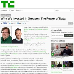 Why We Invested In Groupon: The Power of Data