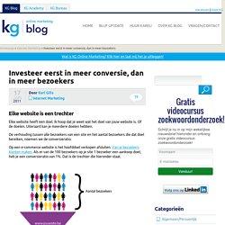 Investeer eerst in meer conversie, dan in meer bezoekers