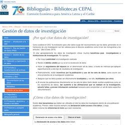 Citación de los datos - Gestión de datos de investigación - Biblioguias at Biblioteca CEPAL, Naciones Unidas