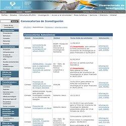 Portal del VR de Investigación (UPV/EHU) - Convocatorias Autonómicas: Proyectos de Investigación en materia de prevención de riesgos laborales. OSALAN