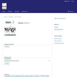 REIDICS. Revista de Investigación en Didáctica de las Ciencias Sociales