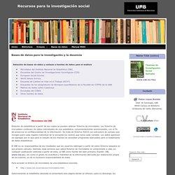 Bases de datos para la investigación y la docencia