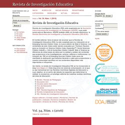 Rev. de Invest. Educativa (WoS / SCOPUS Q3)