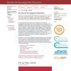 Rev. de Invest. Educativa (WoS / SCOPUS Q3)