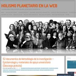 52 documentos de Metodología de la investigación – Epistemología y materiales de apoyo universitario (Descarga gratuita)
