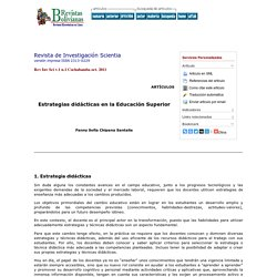 Revista de Investigación Scientia - Estrategias didácticas en la Educación Superior