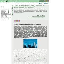 Revista de Investigación en Gestión de la Innovación y Tecnología. LA I+D+I EN LA CORNISA CANTÁBRICA. Número 32, octubre 2005.