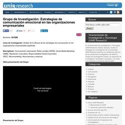 Grupo de Investigación: Estrategias de comunicación emocional en las organizaciones empresariales