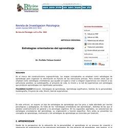 Revista de Investigacion Psicologica - Estrategias orientadoras del aprendizaje