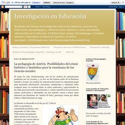 Investigación en Educación: La pedagogía de Astérix: Posibilidades del cómic histórico y fantástico para la enseñanza de las ciencias sociales