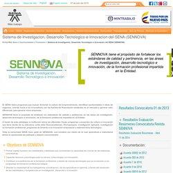 Sistema de Investigación, Desarrollo Tecnológico e Innovación del SENA (SENNOVA)