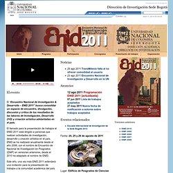 Dirección de Investigación sede Bogotá - Universidad Nacional de Colombia