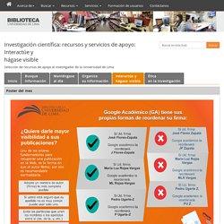 Perfil de investigador y firma (U. Lima)
