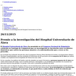Premio a la investigación del Hospital Universitario de Álava