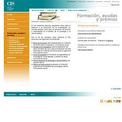 ·CIS·Centro de Investigaciones Sociológicas·Formación, ayudas y premios del CIS