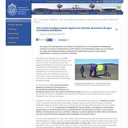 Con un dron investigan especie vegetal como indicador de presencia de agua en el desierto de Atacama