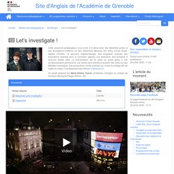 Let's investigate ! (4ème)