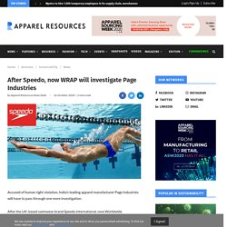 After Speedo, now WRAP will investigate Page Industries