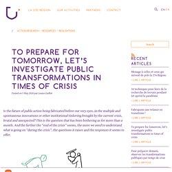 Observer les transformations publiques par temps de crise