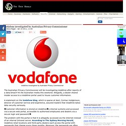 Vodafone investigated by Australian Privacy Commissioner