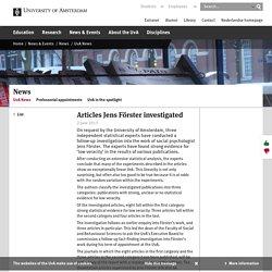 Articles Jens Förster investigated