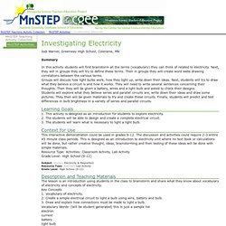 Building Academic Vocabulary - Investigating Electricity