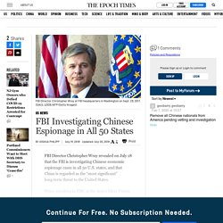 FBI Investigating Chinese Espionage in All 50 States