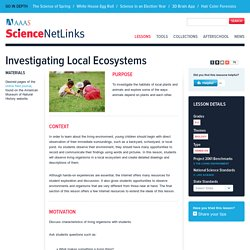 Investigating Local Ecosystems