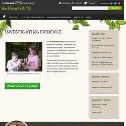 Investigating Evidence : Cornell Lab of Ornithology: BirdSleuth K-12
