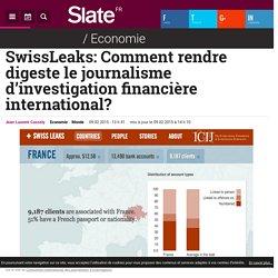 SwissLeaks: Comment rendre digeste le journalisme d'investigation financière ...