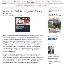 Retour sur « Cash Investigation : fruits et légumes » : critique, avis