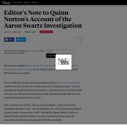 Editor's Note to Quinn Norton's Account of the Aaron Swartz Investigation - Alexis C. Madrigal