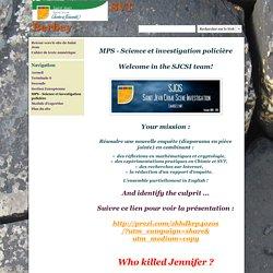 MPS - Science et investigation policière - SVT Berbey