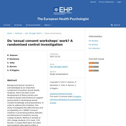 Do 'sexual consent workshops' work? A randomised control investigation