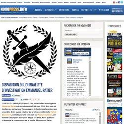 Disparition du journaliste d'investigation Emmanuel Ratier