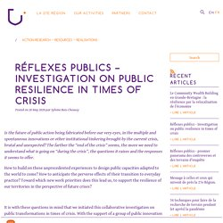 Réflexes publics – premier panorama des controverses et des terrains d'enquête
